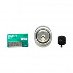 Defender magnetico cromo satinato